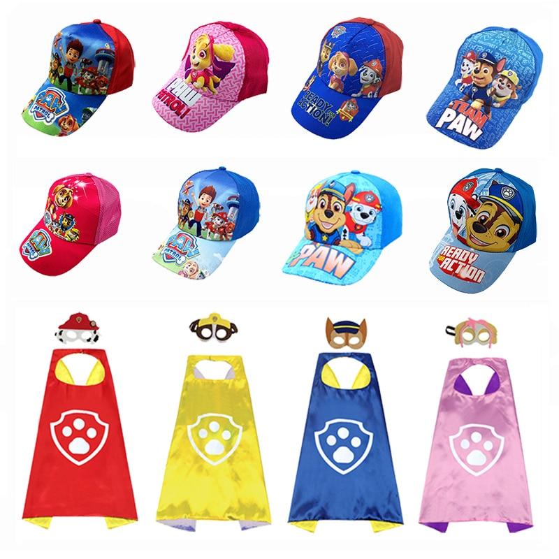 2020 authentic paw patrol boy and girl cartoon dog cape cape patrol fun fun baseball cap cotton hat children's toy cap