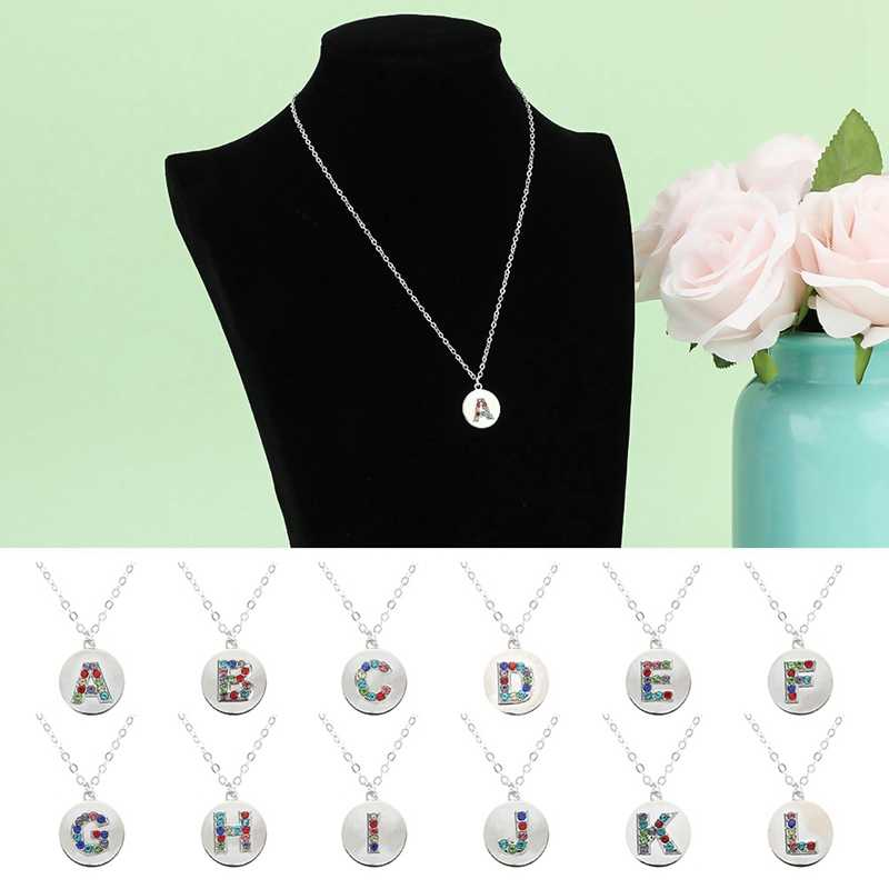 26 English Necklaces European And American Fashion Personality DIY Diamond Pendant Clothes Decorated Chain Gift