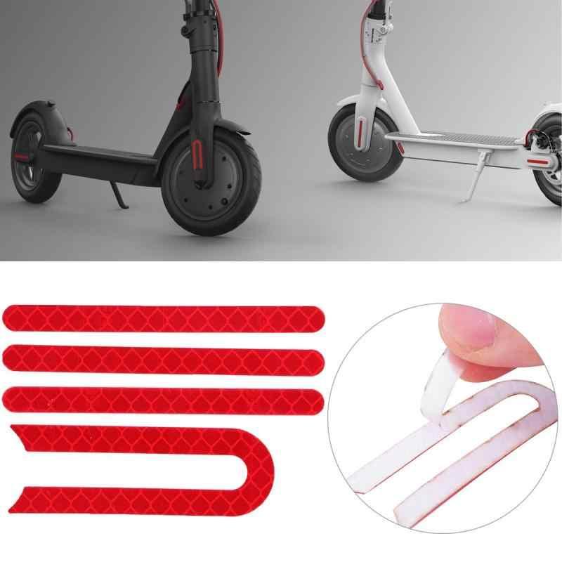Pour Xiaomi Scooter avant arrière roue coque de protection autocollant réfléchissant pour Xiaomi Mijia M365 Scooter électrique planche à roulettes pièces