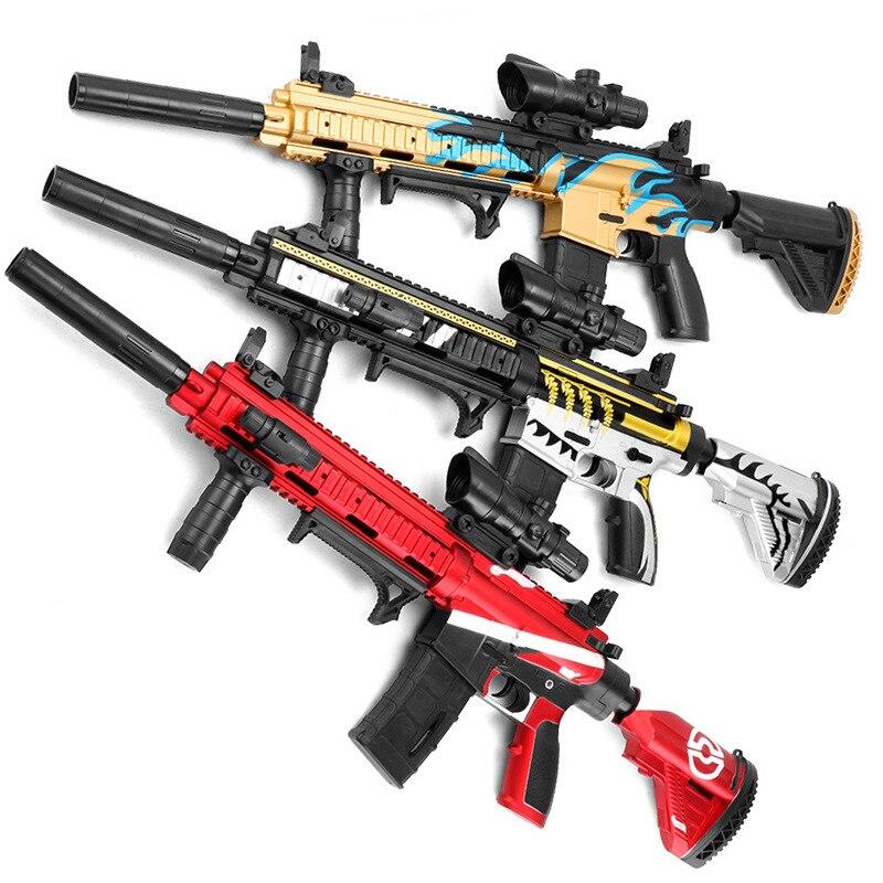 Luo Chen M416 main d'une seule pièce pistolet à eau électrique tir manuel agression Rob enfants poulet jouet peau Version