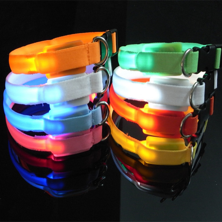 Pet Supplies Small Dogs Luminous Collar Pet Flash LED Shining Dog Chain Dog Traction Rope