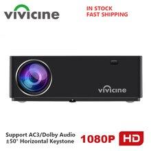 Vivicine M20 מלא HD קולנוע ביתי 1080p מקרן, אפשרות אנדרואיד 10.0 האחרון 1920x1080 HD מקרן מקרן