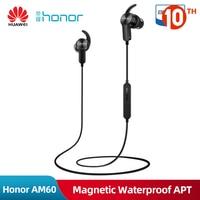 Original Huawei Honor AM60 Wireless Bluetooth Sport Earphone Magentic Waterproof Apt x Stereo Headset With Microphone For Xiaomi|Bluetooth Earphones & Headphones| |  -