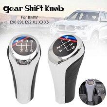 genuine car gear shift knob 5 6 speed for bmw 1 3 5 6 series e30 e32 e34 e36 e38 e39 e46 e53 e60 e63e83 e84 e90 e91 Car Gear Stick Shift Knob for BMW 1 3 5 Series E46 E36 E39 E53 E60 E61 E63 E83 E84 E87 E90 E91 X3 X5 Auto Accessories 5 6 Speed