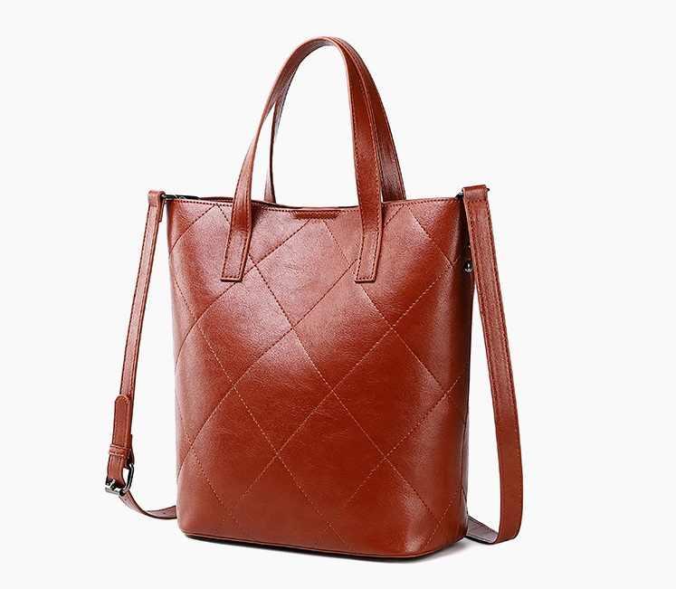 Осенне-зимняя однотонная овечья кожа в стиле ретро, модные женские кожаные сумки большой вместимости, сумка на плечо, женские сумки C1196