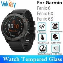 VSKEY 100pcs กระจกนิรภัยสำหรับ Garmin Fenix 6 รอบสมาร์ทนาฬิกา Garmin Fenix 6 S 6X ป้องกันฟิล์ม