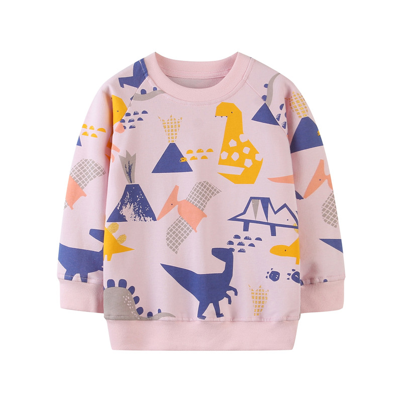 Jumping Meters Baby Cartoon Animals Print Sweaters Cotton Cute Boys Girls Sweatshirts Kids Autumn Spring Sport Tops 1