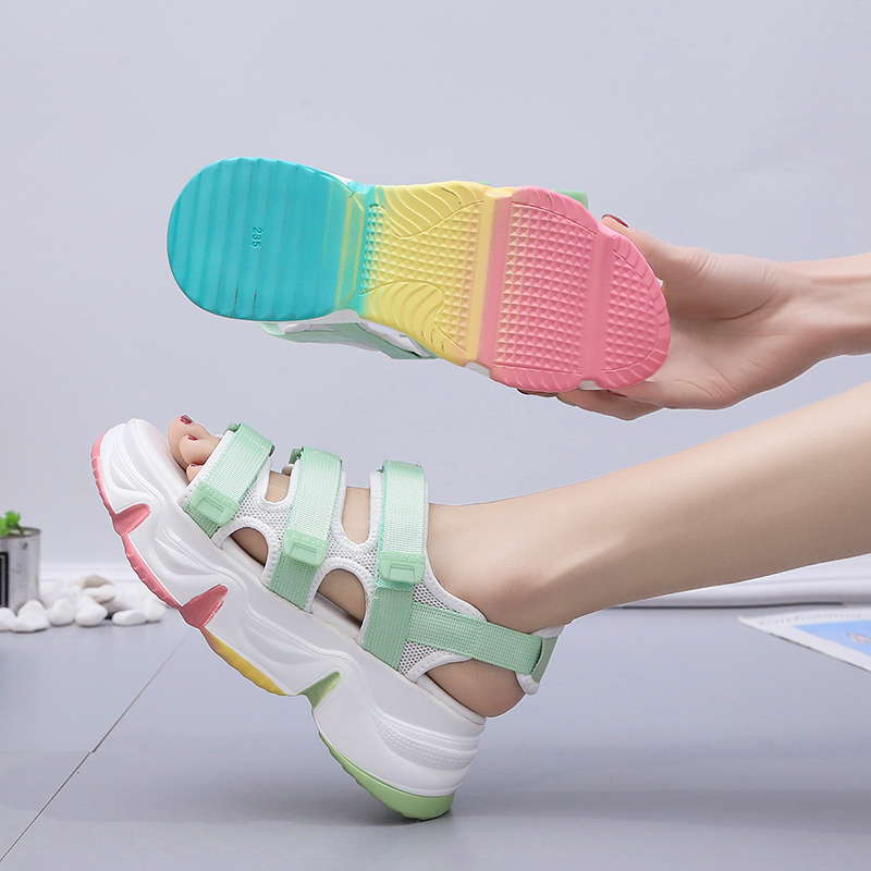 2020 2018 women shoes platform&white girls&summer sandals ladies&shoes(China)