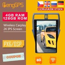 16 Inch Android Stereo for Toyota 150 Prado Car DVD Player Radio Tesla Style 2018-2020 Multimedia Carplay Audio PX6 4+128G