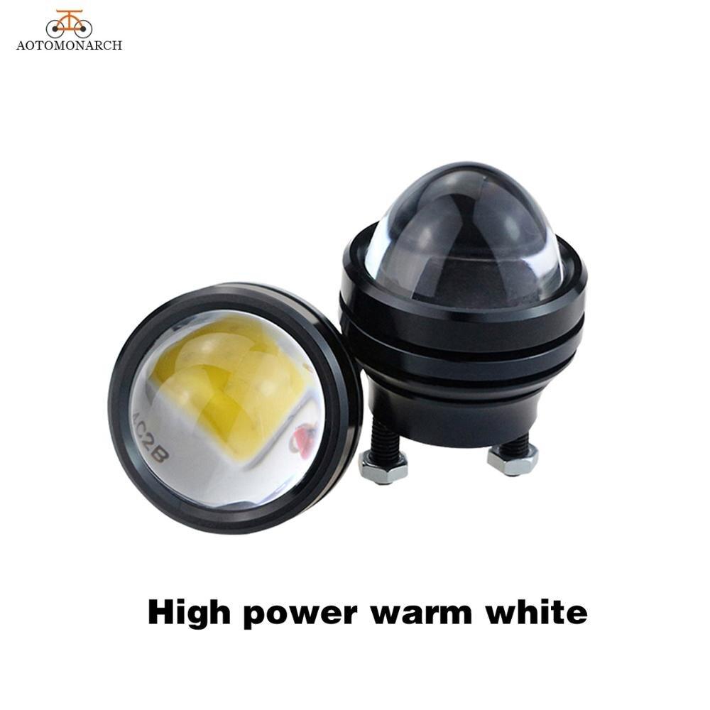 AOTOMONARCH 1 pair 15W Daytime Running Light 12V Super Bright LED Light Eagle Eye DRL Car Lights Waterproof Parking Universal BB