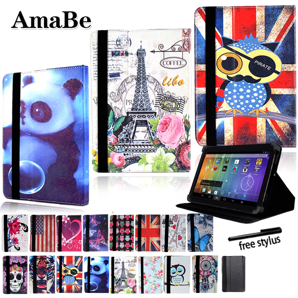 Drop Resistance Print Leather Tablet Stand Cover Case For 8 Inch 10.1 Inch Sony Xperia Z3 Z4 Tablet + Stylus Protective Shell