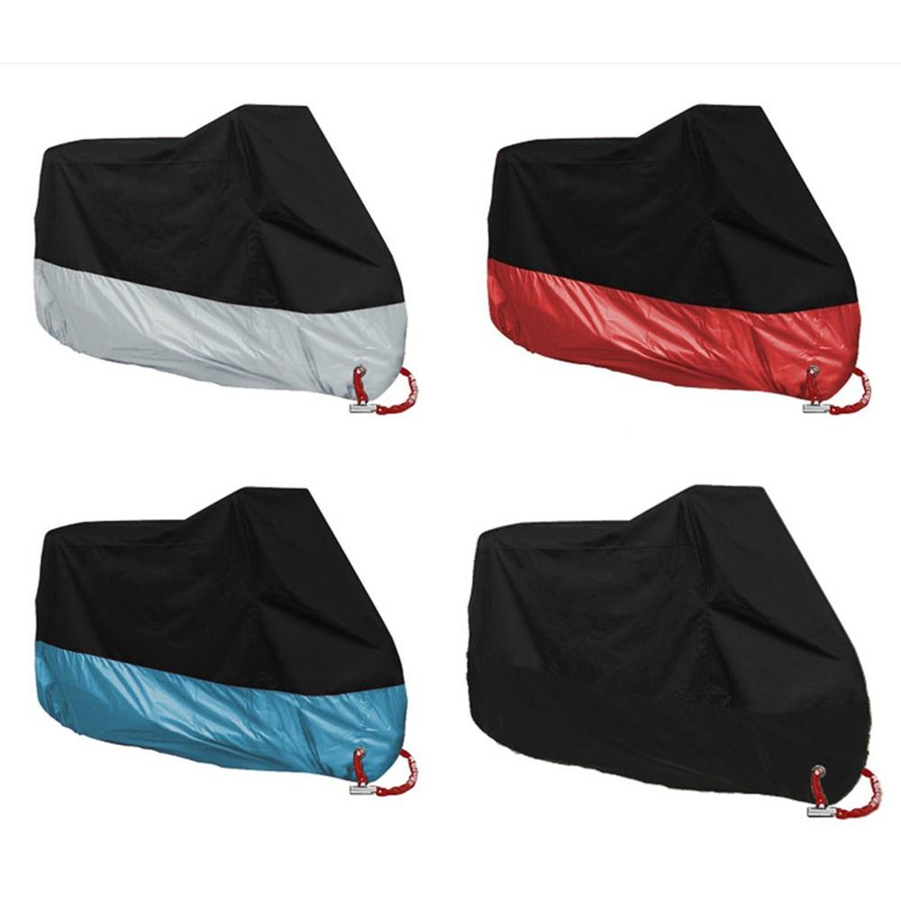 Motorcycle Cover Protective Outdoor Indoor 190T Sun Protection Rainproof Dust-Proof Motorbike Rain Cover