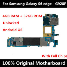 Eu Versie Voor Samsung Galaxy S6 Rand Plus G928F Moederbord Originele Moederbord Ontgrendeld Met Chips Imei Android Os