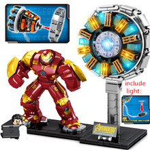 2020 ใหม่Super Hero Nuclear Reactor Light Endgam MK85 Mech Thanos Iron Man Armor Marvel Building Blocksชุดอิฐชุด(China)