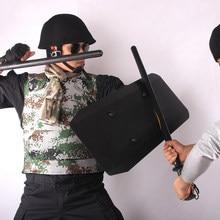Bouclier de sécurité multifonctionnel en alliage d'aluminium, équipement de patrouille, équipement d'auto-Protection tactique pour l'entraînement