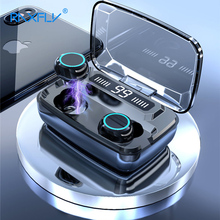 3500 мАч светодиодный Bluetooth беспроводные наушники, TWS сенсорное управление, Спортивная гарнитура, шумоподавление, наушники