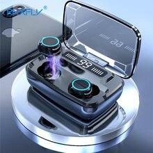 3500mAh LED Bluetooth אלחוטי אוזניות אוזניות אוזניות TWS מגע בקרת ספורט אוזניות רעש לבטל אוזניות אוזניות