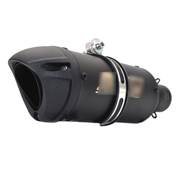 Universal Motorcycle Exhaust Muffler Pipe Escape Moto Racing for Yamaha MT07 MT09 TMAX530 500 atv with laser logo 570mm 480mm 380mm universal motorcycle akrapovic exhaust muffler z900 r3 tmax530 cbr300 tnt250 bn300 hexagonal escape silencer
