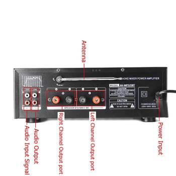 Усилитель мощности SUNBUCK 325BT, 2*60 Вт, Bluetooth, USB, SD, FM, DVD, AUX 3