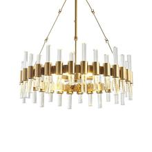 Modern American chandelier living room LED crystal chandelier luxury hotel room decoration lamp