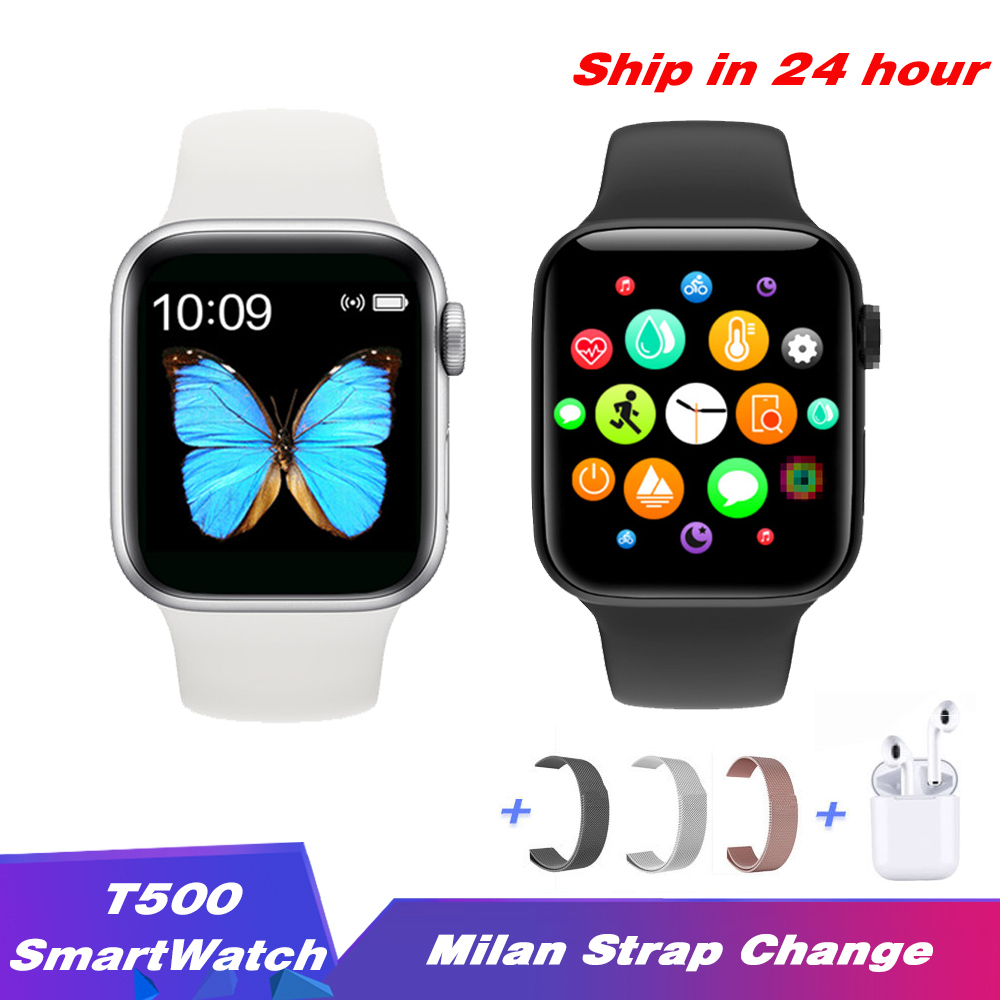 2020 New <font><b>Smartwatch</b></font> T500 Bluetooth Call <font><b>44mm</b></font> Strap change Blood Pressure Waterproof Smart watch for IOS Android PK <font><b>IWO</b></font> 12 <font><b>IWO</b></font> <font><b>8</b></font> image