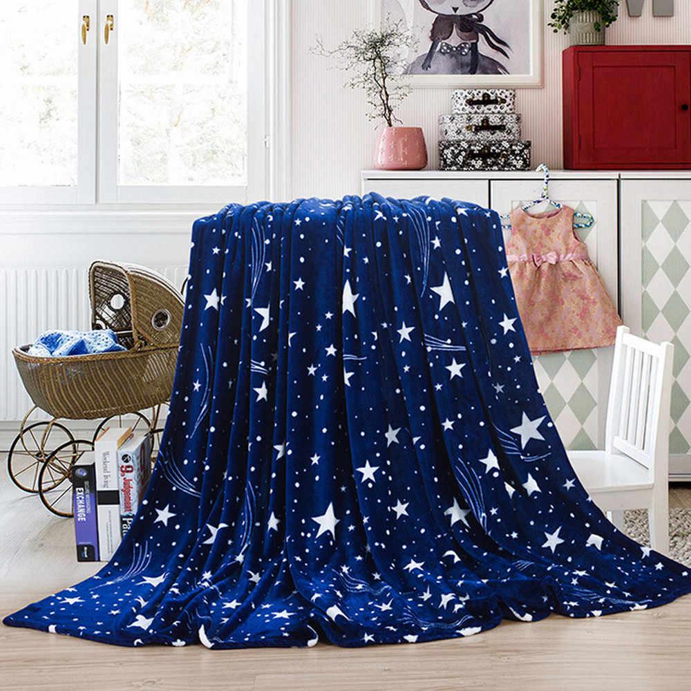 2019 New 70*100cm 1PC Flannel Blanket Super Soft Warm Solid Warm Micro Plush Fleece Blanket Throw Rug Sofa Bedding