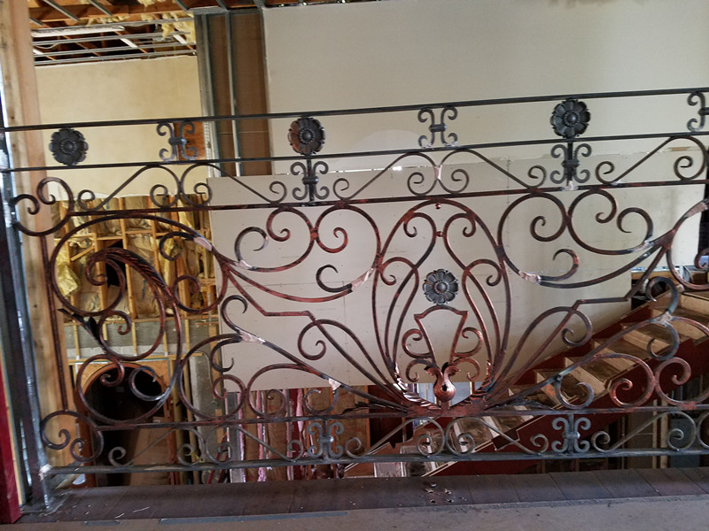 Hench Hand Forged  Wrought Iron Balcony Iron Railings Iron Balustrades For House Design For Sale