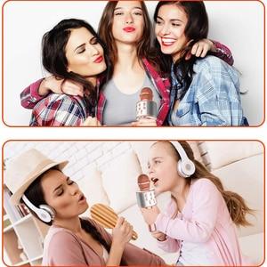 Image 3 - Microphone Wireless Bluetooth Karaoke Microphone Professiona Speaker Handheld Microfone Player Singing Recorder Mic microfono
