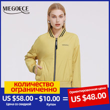 Spring-Jacket QUILTED Casual Women Windproof New Sport Classic MIEGOFCE Occasion Knitted-Neck
