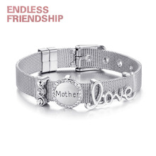 Endless Friendship Dropshipping Silver Rose Gold Stainless Steel Mesh Charm Bracelet Top Brand Luxury for Women Gift
