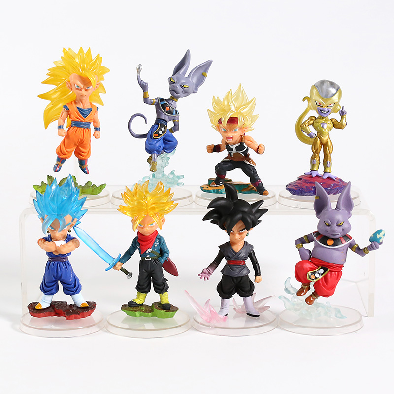 Dragon Ball Super UG Best Gashapon Goku Black Trunks Vegeta Set 4pcs No Box