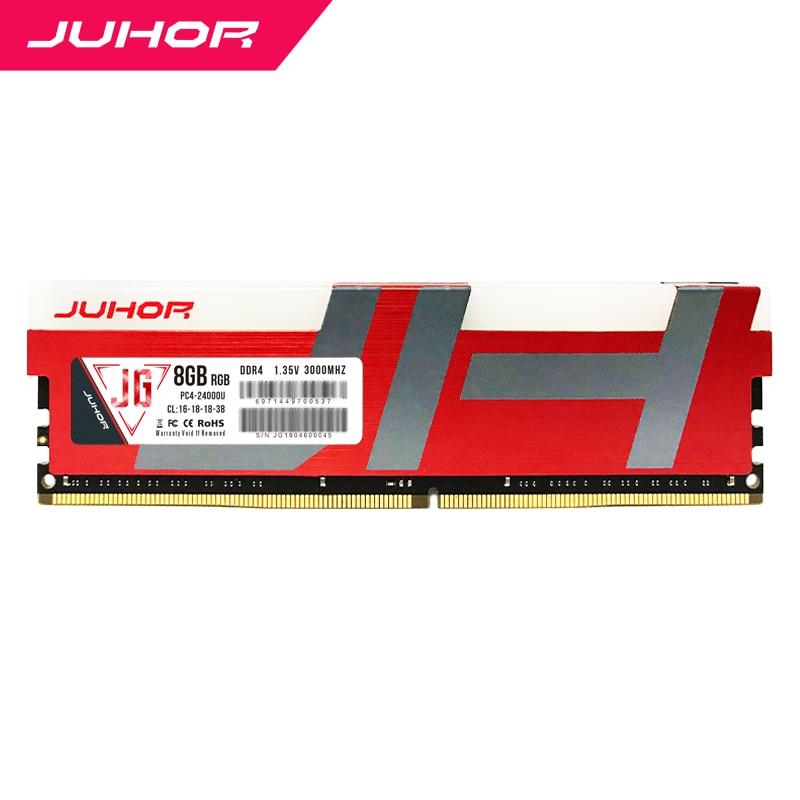 JUHOR ddr4 in RAMS 8gb Desktop Memory with Heat udimm 2666mhz 3000mhz PC RAM 1.2V New dimm Ship memoria ram