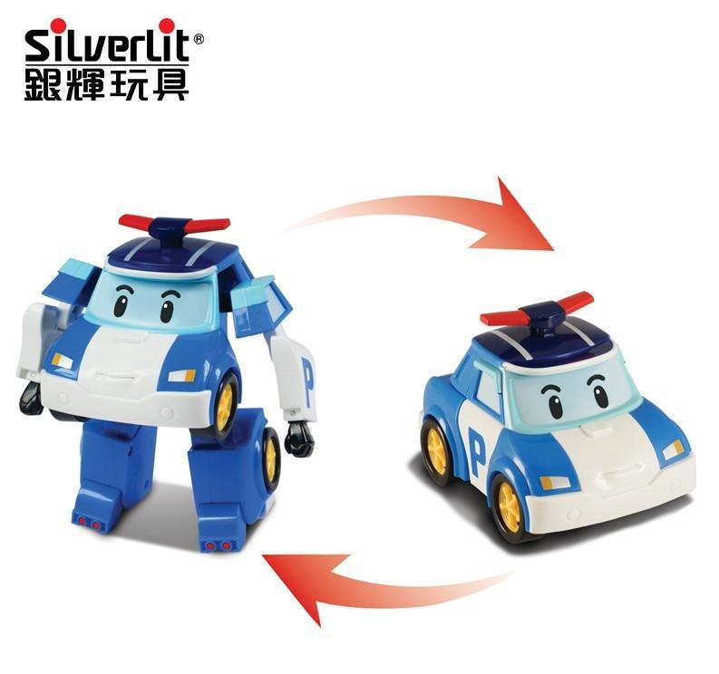 Genuine Product Silverlit Poli Perley Remote Control Multi-functional Deformation Robot Transformation Police Car 83185