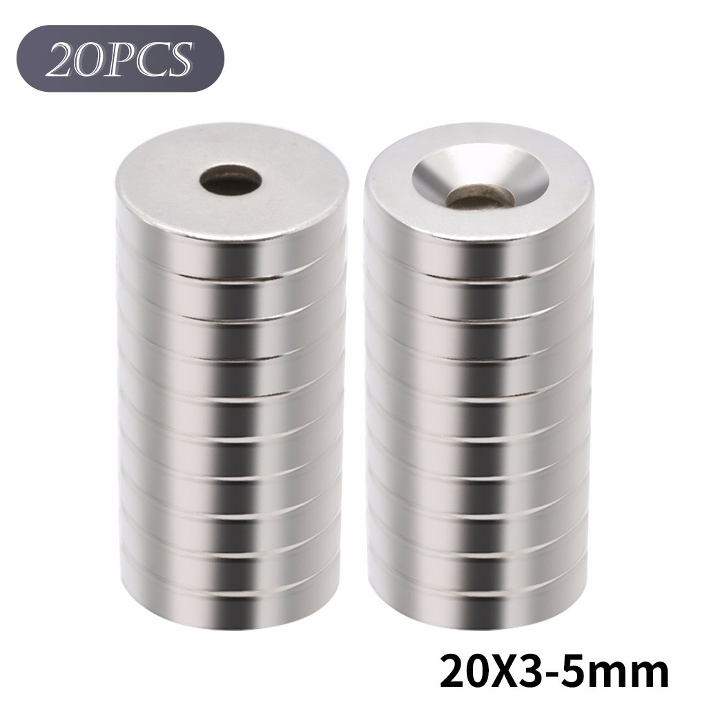 1 x 1//4 Inch Neodymium Rare Earth Countersunk Ring Magnets N52 4 Pack