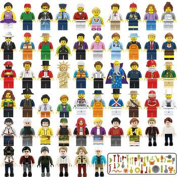 цена на Mini Figurines Assembly Boys Building Blocks Bricks Set Assembling Toy for Children Early Compatible Model Toys