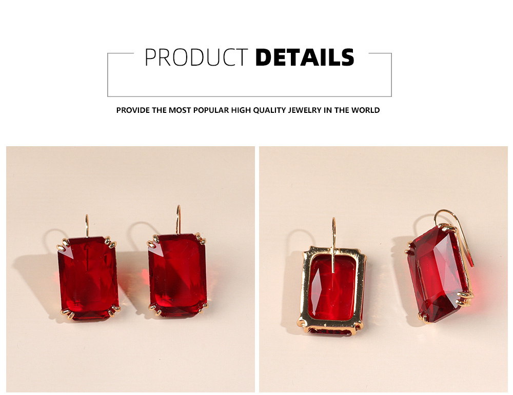 Hd049782347bf4536949a3c40f3df9142J - Transparent Resin Pendant Hanging Earring For Women Bohemia Trendy Geometric Square Acrylic Drop Dangle Earrings Wedding Jewelry