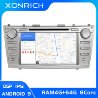 IPS 2 Din Android 9 Car DVD Player For Toyota Camry 2007 2008 2009 2010 2011 Aurion 2006 Multimedia GPS Navigation Radio Stereo