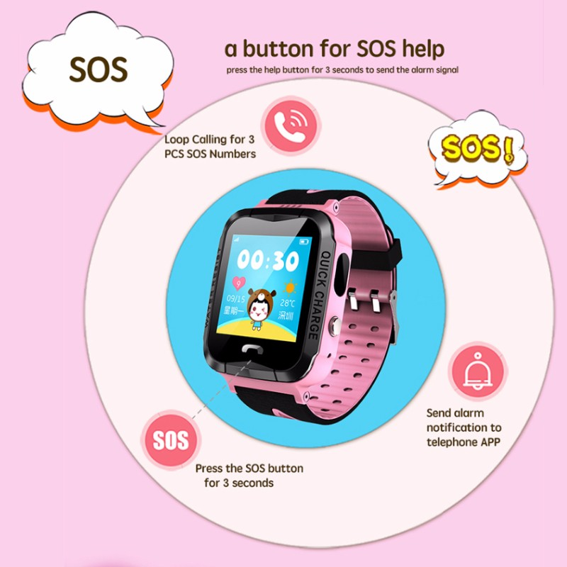 Hd049a3858c354209bca1371892f15cb1L - GPS kids Smart Watch Phone Position Children Watch 1.22 inch Color Touch Screen WIFI SOS Tracker Smart Baby Watch IOS & Android