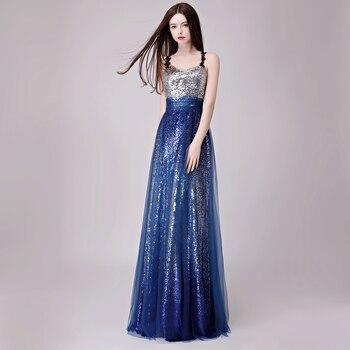 2019 Elegant  Long Evening Dresses Simple  Sequins Evening Party Dress