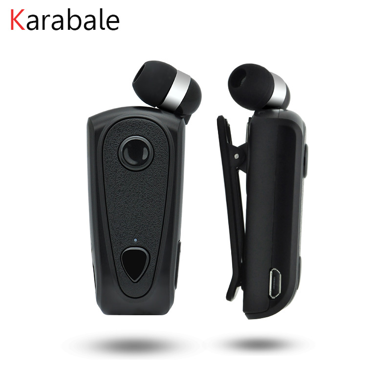 Karabale F900 Retractable Wireless Bluetooth Earphones Handsfree Headset Stereo Headphone Clip Mic Phone Call Portable Bluetooth Earphones Headphones Aliexpress