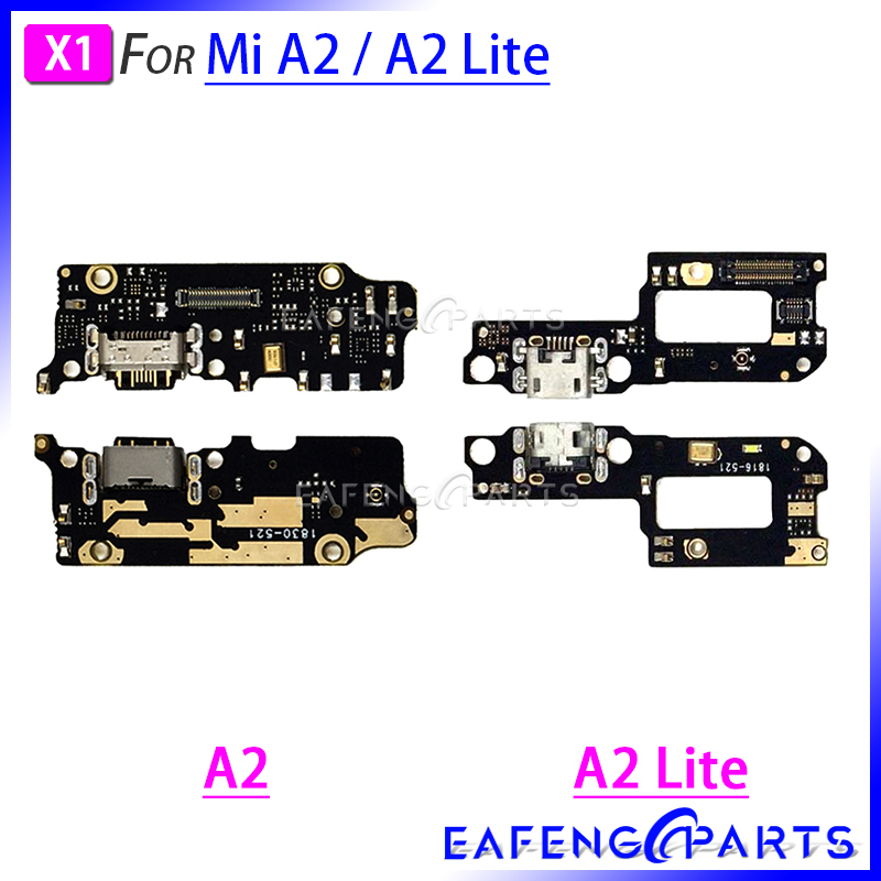 Charger Dock PCB Board For Xiaomi Mi A2 Lite USB A2 Charging Port Flex Cable Connector Ribbon Flex