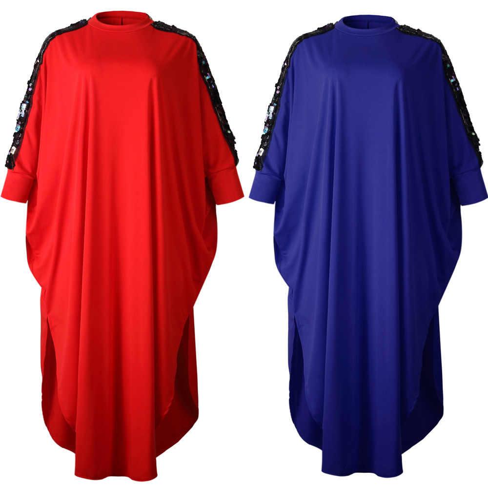 Châu Phi Váy Đầm Cho Nữ Mùa Hè 2019 Thu Plus Size Nữ Kim Sa Xanh Đỏ Đen Rời Châu Phi Quần Áo Cổ Tích Những Giấc Mơ