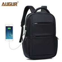 AUGUR Travel Backpacks for Men Women,Extra Large 15.6 Inch Laptop USB Ports for College School Business Bookbags