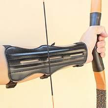 Protetor de braço unissex para proteção, proteção tradicional de braço em couro pu para tiro com alvo, acessório de proteção para braço