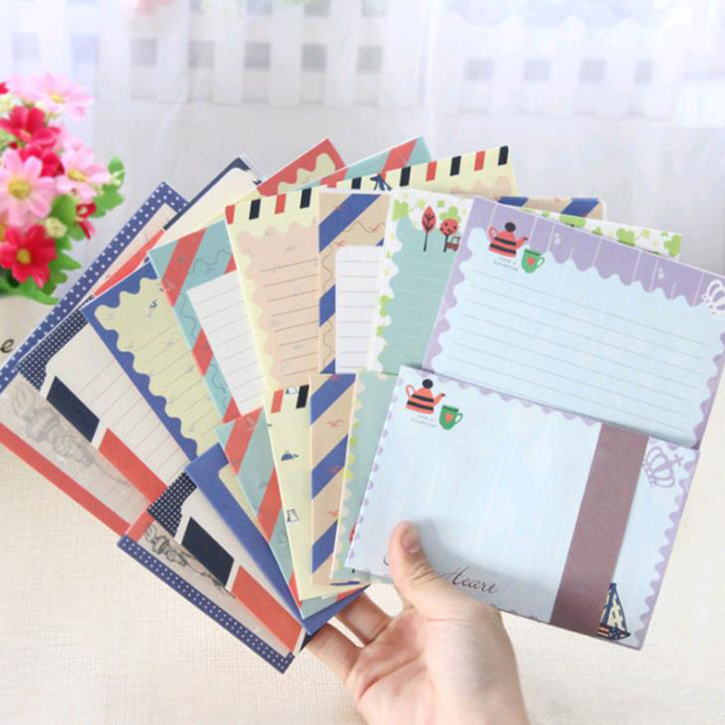 1 Set Cute Vintage Navy Series Multi-functional Letter Paper Envelope Set Stationery Students School Office Gifts