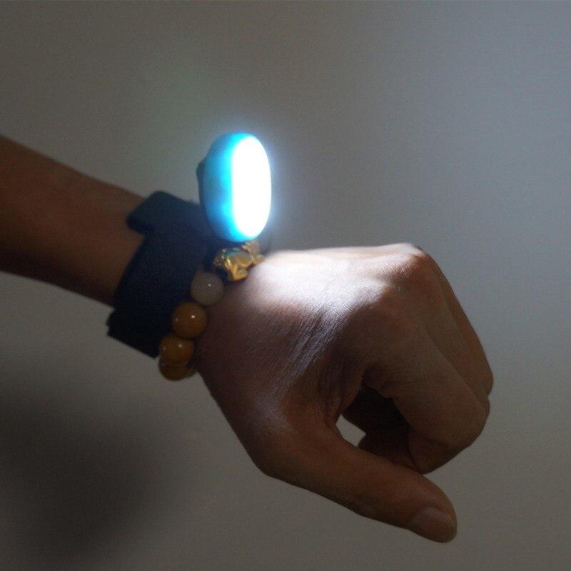 Cycling Bike Light LED Wrist Lamp Waterproof Torch Light USB Charging Flashlight Night Jogging Running Wrist Riding Bicycle