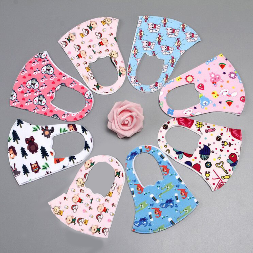 1pc Cartoon Child Face Masks For Men Women Kids Washable Reusable Anti PM2.5 Cotton Mouth Masks Anti Dust Earloop Mask 7Colors