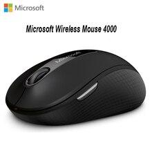 Microsoft 4000 Bluetooth 4.0 souris sans fil Portable avec technologie Blueshin ordinateur Portable Interface de bureau USB 2.4Ghz 1000DPI silencieux