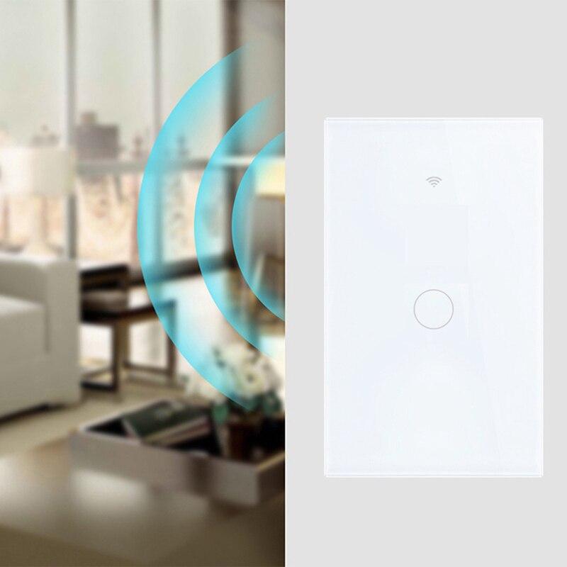 Luz inteligente interruptor WIFI pared prensa Panel App tiempo hembra Alexa de Google