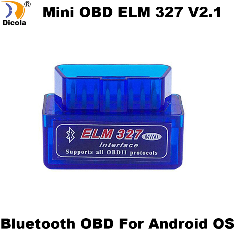ELM327 Mini ELM 327 V2 1 OBD2 Bluetooth Interface Auto Scanner obd ii Diagnostic Tool works on Android Windows Symbian